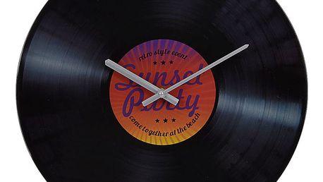 Emako Kulaté nástěnné hodiny SUMMER, vinylová deska - Ø 35 cm