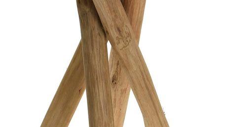 Taburet z přírodního týkového dřeva - stolička Emako