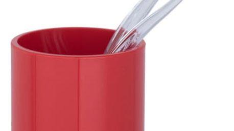 Nádobka na kartáček na zuby INCA RED, WENKO