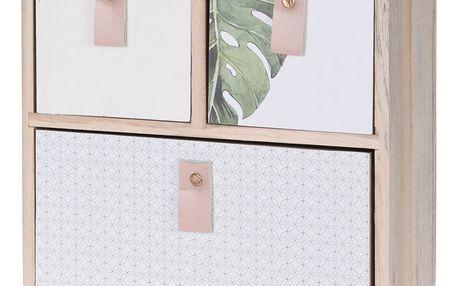Home Styling Collection Dřevěná skříňka na drobnosti, se 3 zásuvkami