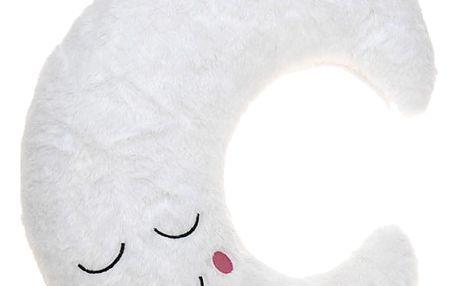 Plyšový polštářek MOON pro dětti se světýlky LED Emako