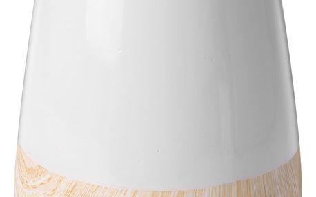 Emako Keramická váza WOOD LOOK na umělé květy, dekorace