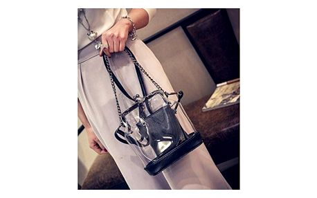 Elegantní průhledná kabelka