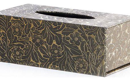 Krabička na papírové kapesníky White & Gold Nature