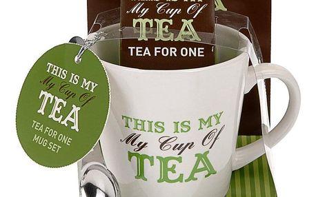 Emako Vánoční dárkový set: hrnek My cup of tea, zelená barva