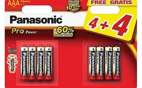 Baterie alkalická Panasonic Pro Power AAA, 4+4 ks (LR03PPG/8BW)