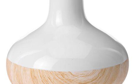 Keramická váza WOOD LOOK na umělé květy, dekorace Home Styling Collection