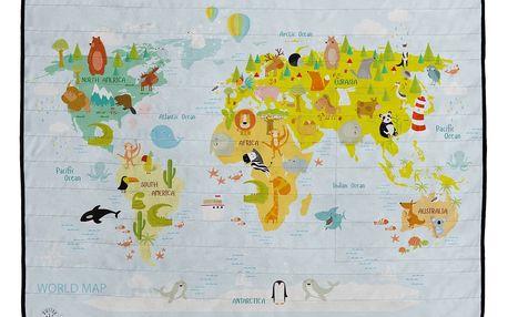 Butter Kings Kempingová deka World map, 145 x 180 cm