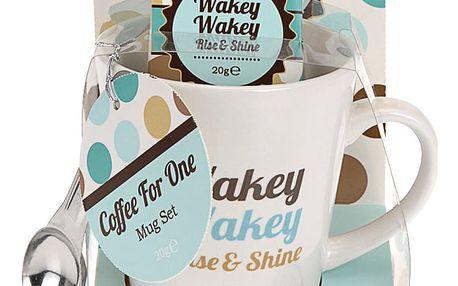 Vánoční dárkový set: hrnek Wakey Wakey, modrá barva Emako
