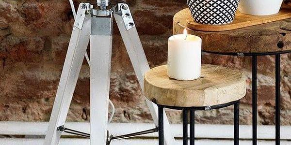 Emako Stojací lampička INDUSTRIAL LOOK, nerezová ocel, 64x16 cm4
