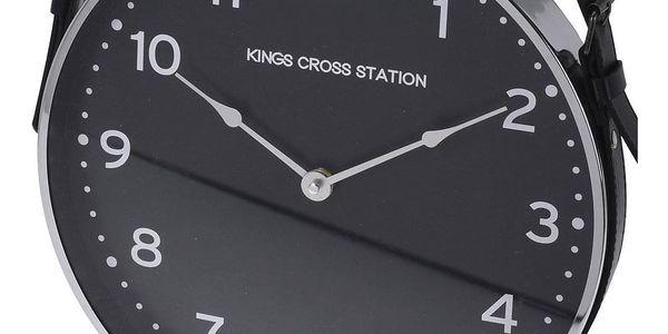 Home Styling Collection Nástěnné hodiny, klasické s koženým páskem Ø 30 cm2
