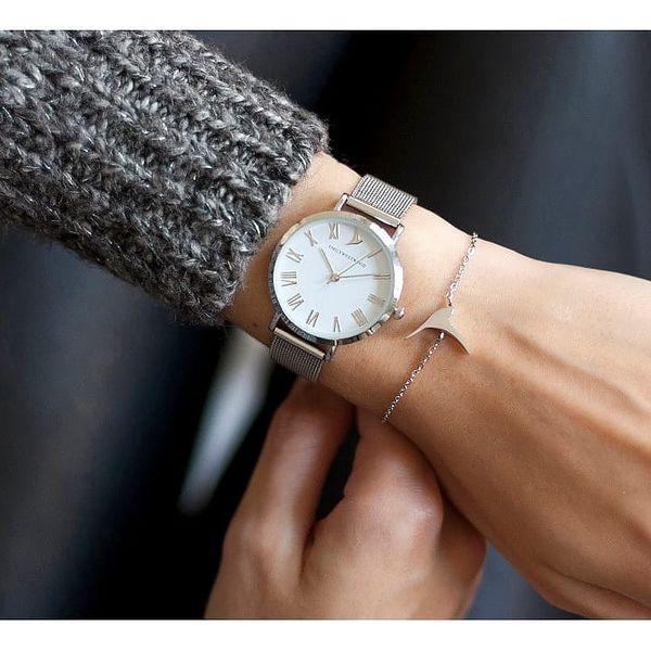 Dámské hodinky s páskem z nerezové oceli ve stříbrné barvě Emily Westwood Oldtown2