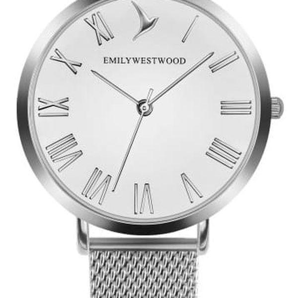 Dámské hodinky s páskem z nerezové oceli ve stříbrné barvě Emily Westwood Oldtown
