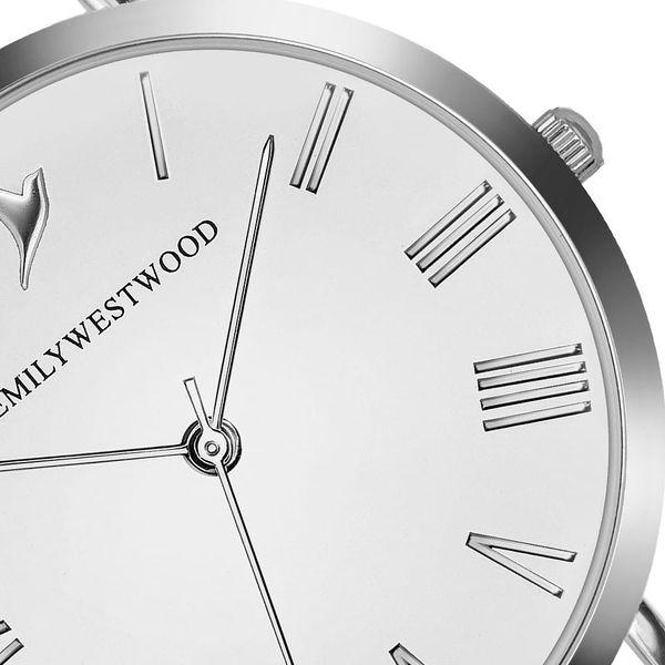 Dámské hodinky s páskem z nerezové oceli ve stříbrné barvě Emily Westwood Oldtown3