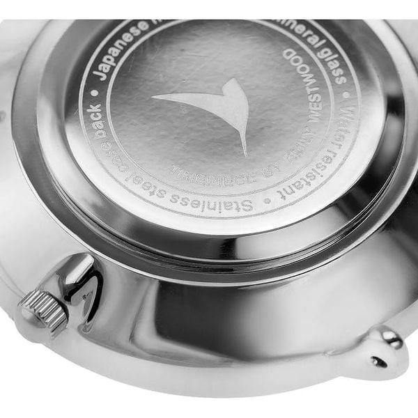 Dámské hodinky s páskem z nerezové oceli ve stříbrné barvě Emily Westwood Oldtown4