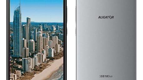 Mobilní telefon Aligator S5510 Dual SIM (AS5510GY) šedý Software F-Secure SAFE, 3 zařízení / 6 měsíců v hodnotě 979 Kč