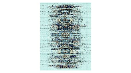 Modrý koberec Kate Louise Rain, 80x150cm