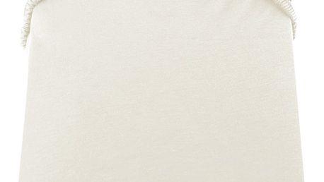 Krémově bílé prostěradlo DecoKing Amber Collection, 160-180 x 200 cm