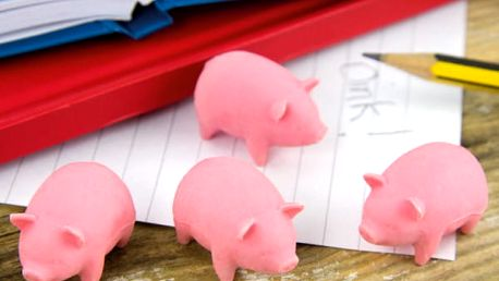 Sada mazacích gum Pigs 4 ks