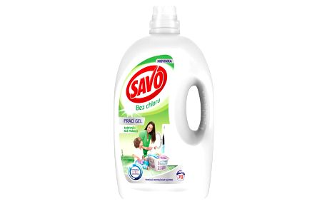 SAVO Bez chlóru Universal prací gel na bílé a barevné prádlo 70 praní