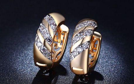Dámské náušnice - zlatá barva