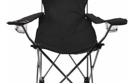 Divero 35121 Skládací kempingová židle s polštářkem - černá