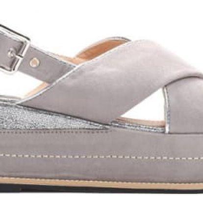 Dámské šedé sandály na platformě Silvia 9212