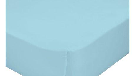 Modré elastické prostěradlo z čisté bavlny Happynois, 90 x 200 cm