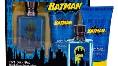 DC Comics Batman dárková kazeta pro děti toaletní voda 75 ml + sprchový gel 150 ml