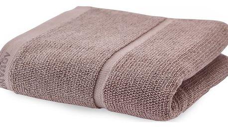 Šedohnědý ručník Aquanova Adagio,55x100cm