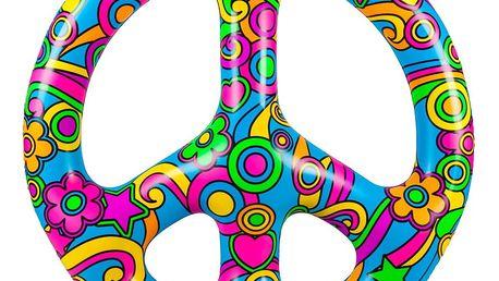 Nafukovací kruh ve tvaru znaku míru Big Mouth Inc.