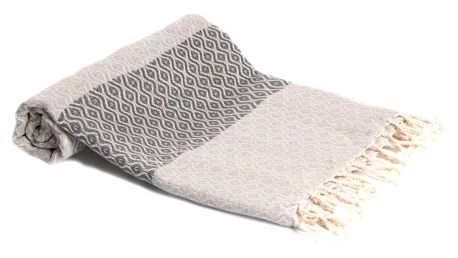 Hamam osuška z ručně tkané bavlny ZFK Asgeir, 180x95cm