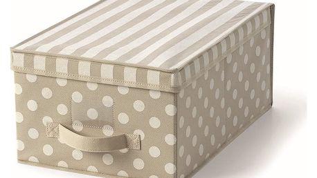 Béžový uložný box s víkem Cosatto Trend,30x45cm