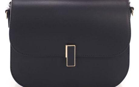 Černá kožená kabelka Giulia Massari Beso