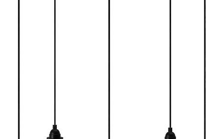 Černé závěsné svítidlo s 5 kabely Bulb Attack Uno Primary
