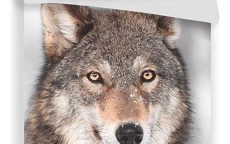 Jerry Fabrics Bavlněné povlečení Vlk, 140 x 200 cm, 70 x 90 cm