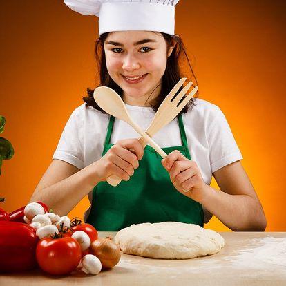 Kurz přípravy pizzy pro děti a nápoj podle chuti