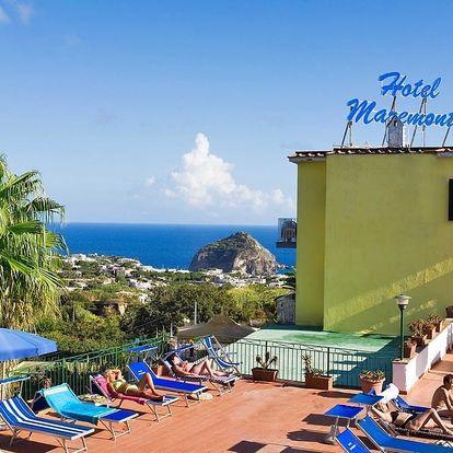 Itálie - Ischia na 8 dní, polopenze s dopravou letecky z Prahy 1000 m od pláže