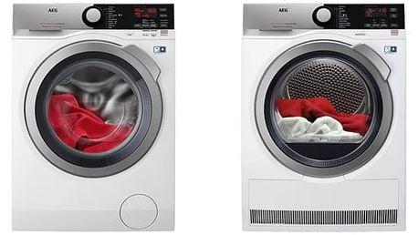 Set (Sušička prádla AEG AbsoluteCare® T8DEE48SC) + (Automatická pračka AEG ProSteam® L7FEE48SC) + DOPRAVA ZDARMA