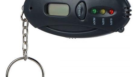 Mini alkohol tester s LED indikátory na klíče