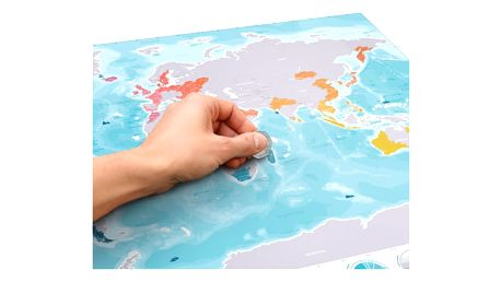 Stírací mapa světa Oceans Edition