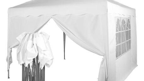 Tuin 36860 Zahradní párty stan nůžkový 3x3 m + 2 boční stěny - bílý
