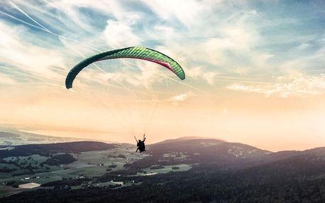 Tandem paragliding: Termický let v Beskydech