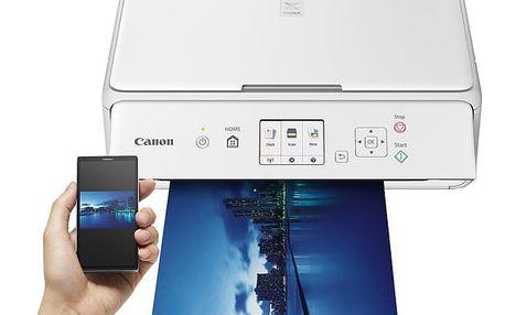Tiskárna multifunkční Canon PIXMA TS5051 bílá (A4, 12str./min, 9str./min, 4800 x 1200, duplex, WF, USB) (1367C026AA)