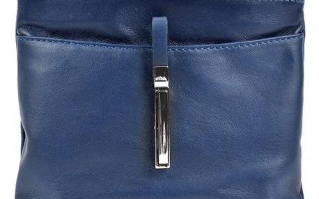 Modrá kožená kabelka Roberta M Tulum