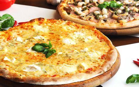 2× pizza o průměru 32 cm z nabídky 13 druhů