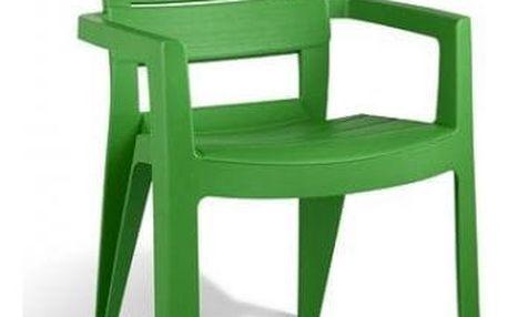 Allibert IBIZA 6718 Zahradní plastové křeslo - zelená
