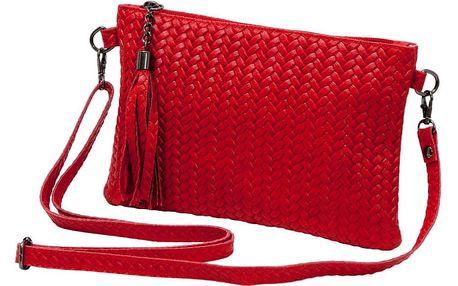 Červená kabelka z pravé kůže Andrea Cardone Michele
