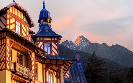 Akciový wellness pobyt v exkluzivním historickém hotelu ve Vysokých Tatrách
