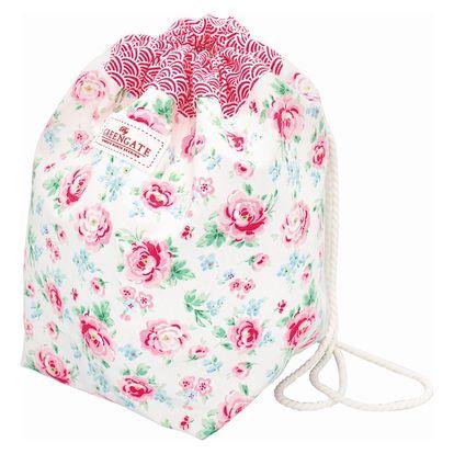 GREEN GATE Dětský látkový batůžek Meryl white, růžová barva, textil